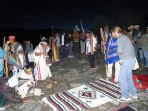 Ceremonia en la Laguna de Guatavita
