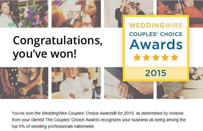 Wedding Wire And The Knot Award 2016