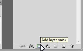 Clique para adicionar uma máscara à camada