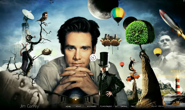 *讓我們來一窺金凱瑞的奇妙世界吧! Jim Carrey - Official Web Site 3