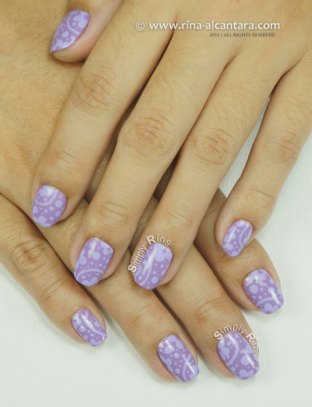 Can T Get Enough Of Lavender Nail Art Design By Simply Rins
