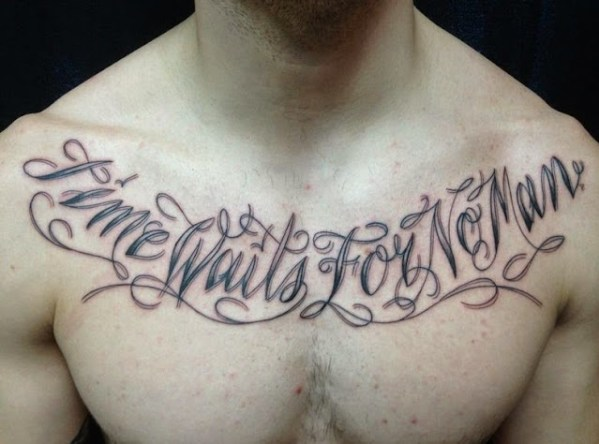 inspirational quotes Chest Tattoos for men