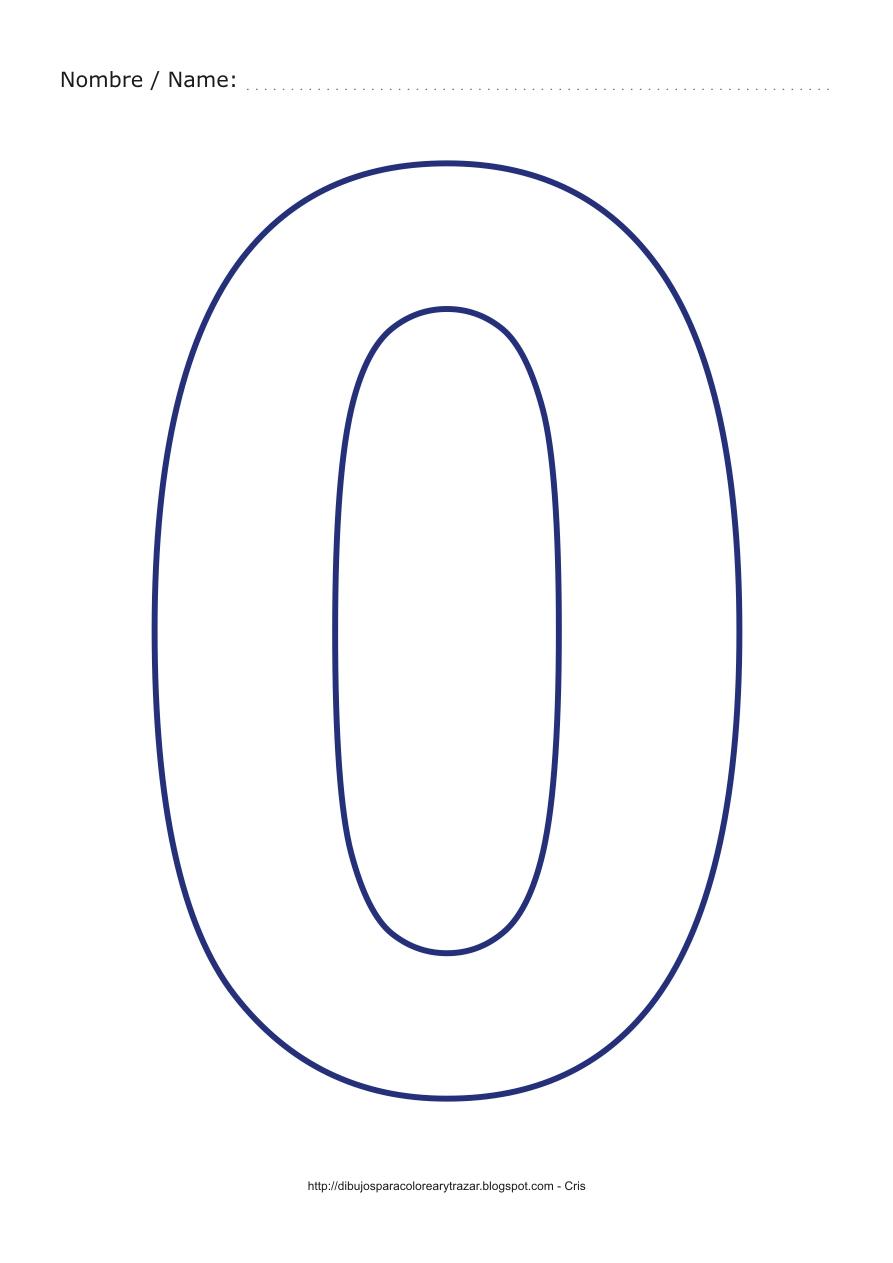 de los numeros para colorear y recortar los numeros para colorear