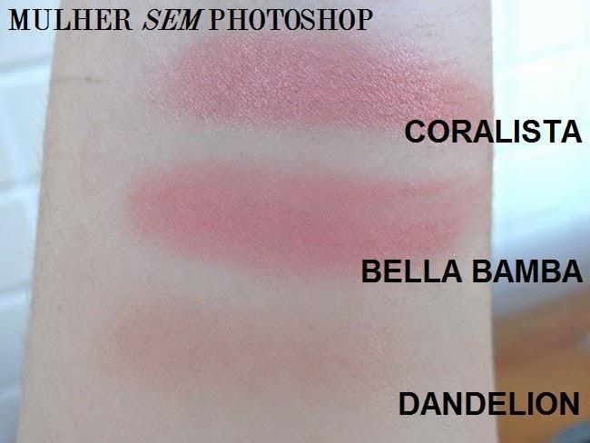 comparação Benefit Coralista Bella Bamba Dandelion