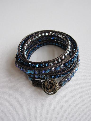 Chan Luu Style Leather Wrap Bracelet with Tutorial (1/6)