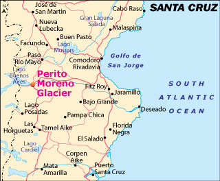 Perito Moreno Glacier PatagoniaArgentina - Argentina map by province
