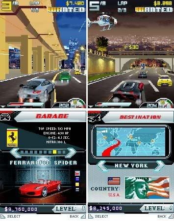 Asphalt 4 Elite Racing (All Screen) For Java Game Mobile Phone