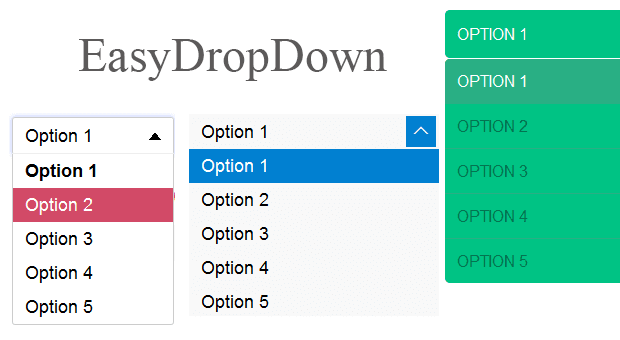 EasyDropDown - A Drop-down Builder For Styled Inputs and Menus