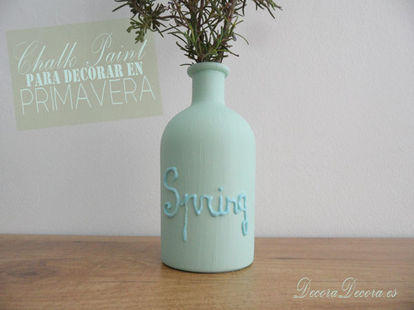 Decorar en primavera con chalk paint