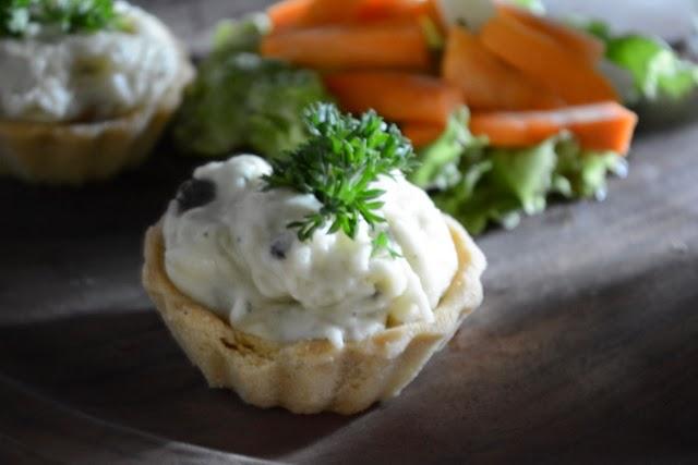 Cheesy Potato & Mushroom Tarts