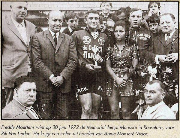 Freddy Maertens wint in 1972 de Memorial Jempi Monseré in Roeselare