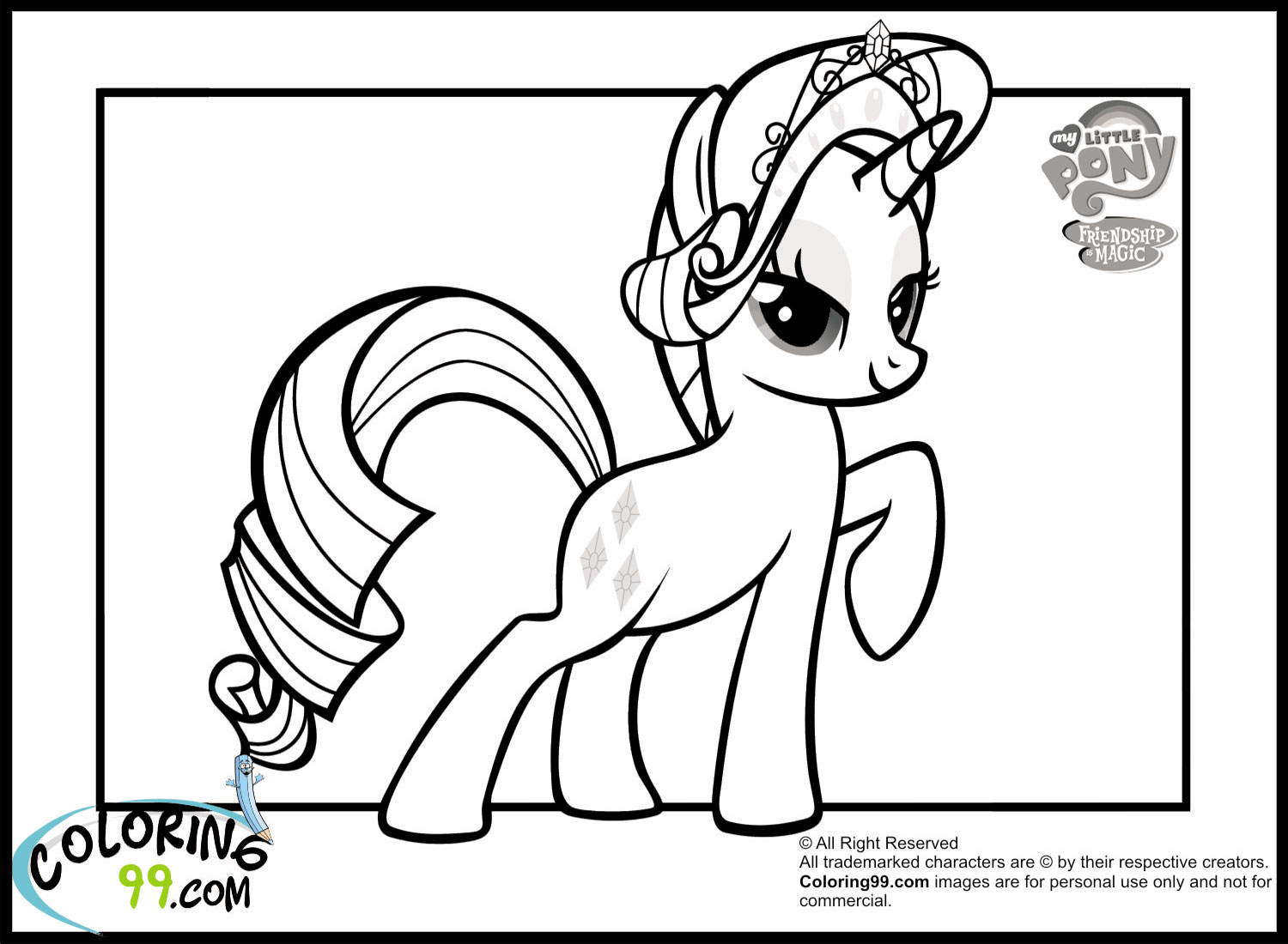 Princess Rarity Coloring Pages Coloring Page