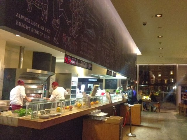 The counter at Vapiano restaurant in Southwark