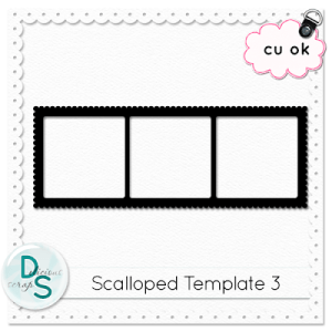 Free scalloped frame
