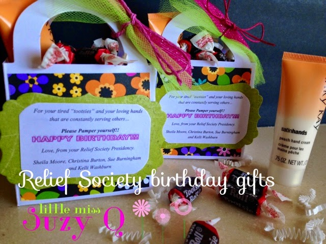 Little Miss Suzy Q Relief Society Birthday Gift For Your Tired Tootsies And Your Loving Hands