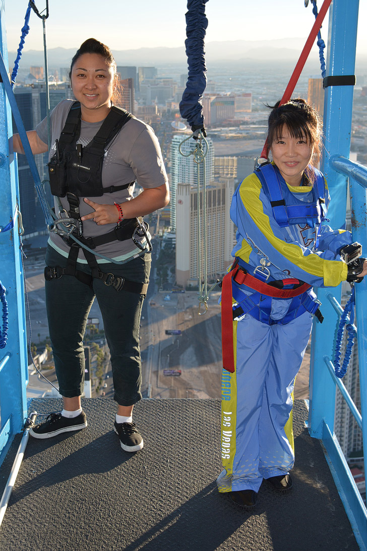 Jumping off the Stratosphere with SkyJump Las Vegas!