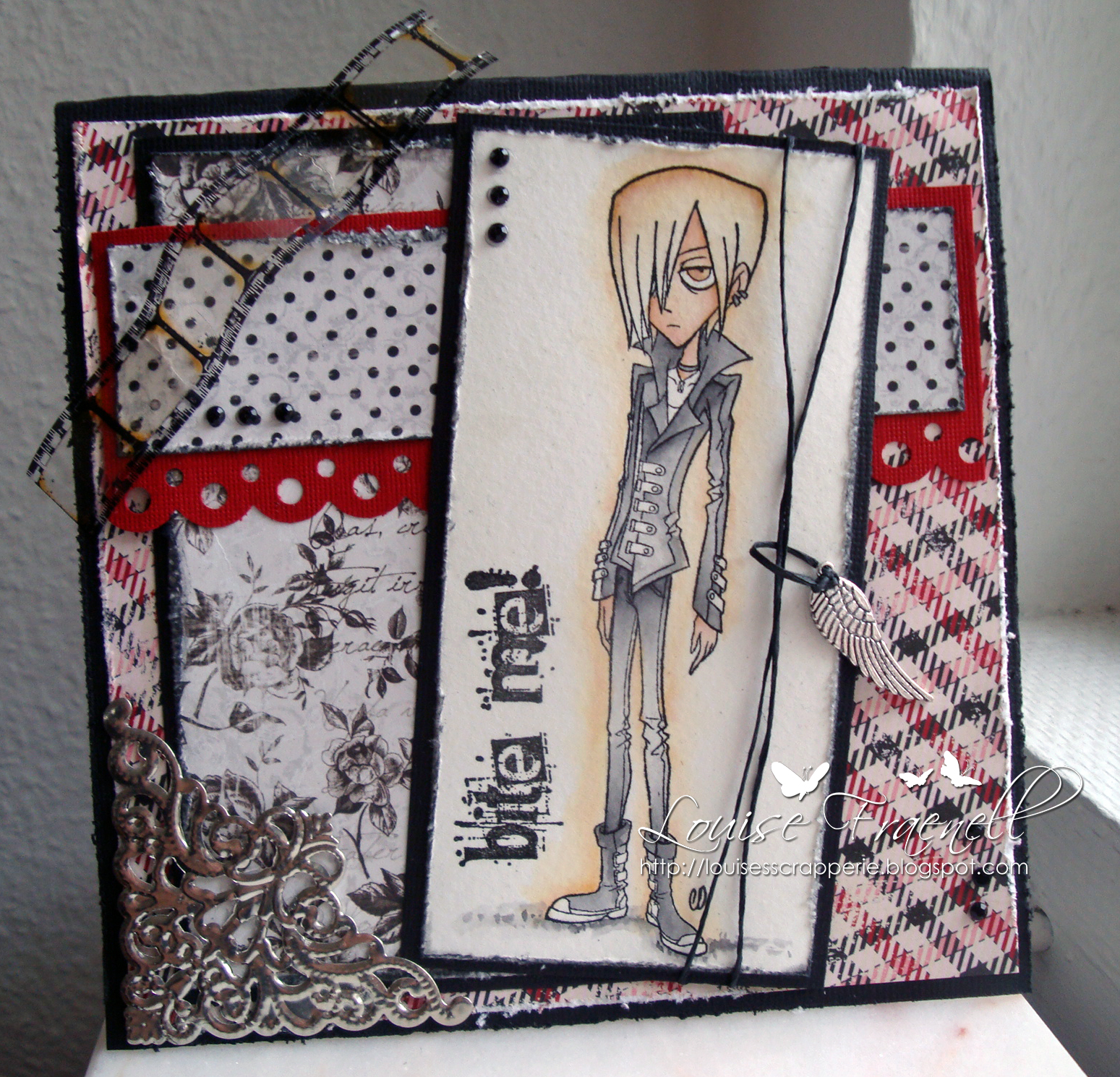 Louises Scrapperie Gdt Tickled Pink Stamps It S Blog Hop Time
