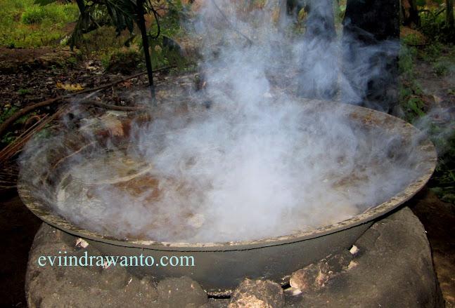 melihat proses pembuatan gula kelapa