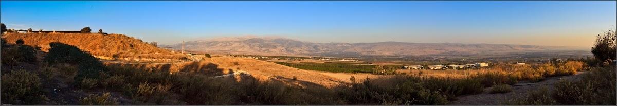Панорама: Северная Галилея и Хермон