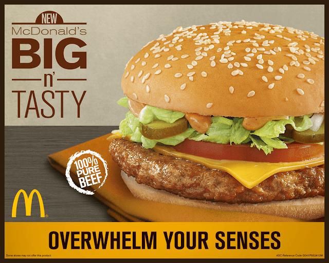 New Mc Donald's Big N' Tasty burger