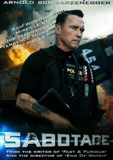 Poster Of Sabotage In Dual Audio Hindi English 300MB Compressed Small Size Pc Movie Free Download Only At worldfree4u.com