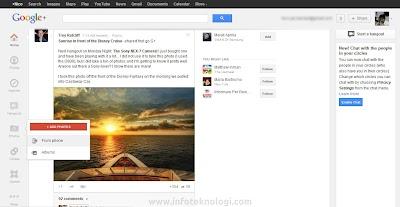 Google plus desain baru