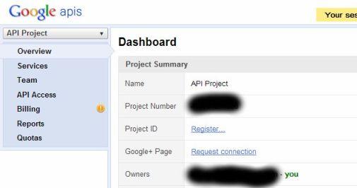 Google API untuk membuat Client ID dan Client Secret