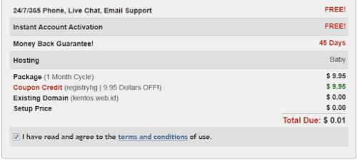 Cara Mendaftar Hosting Murah di Hostgator HANYA $0,01 Saja! gambar