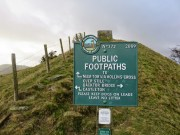 Footpath Sign Near Back Tor