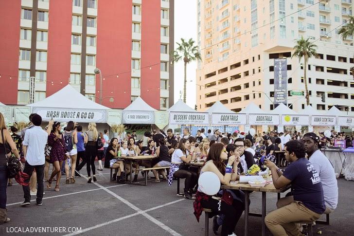 Food at Life is Beautiful Festival Vegas.