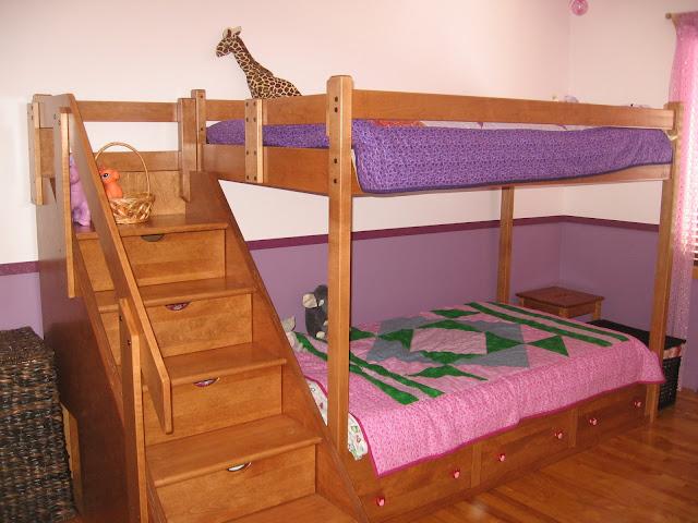 lit superpose avec escalier