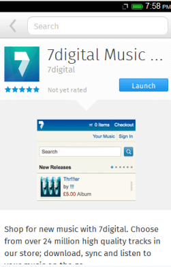 7Digital Music Store บน Firefox Marketplace ใน Firefox OS