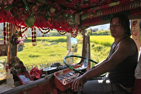 dakshinkali bus, nepalese country bus, what is a nepalese bus like, inside a nepalese bus