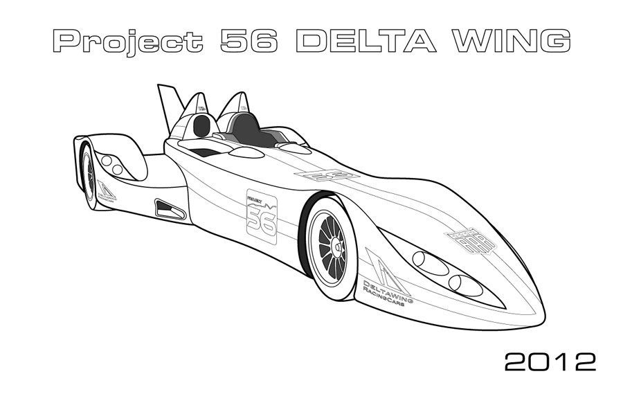 Delta Wing Le Mans Car Coloring Page Car Coloring Pages