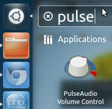PulseAudio Volume Control Unity Dash