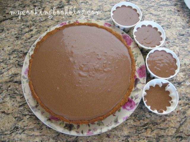 Тарт с шоколад, тахан и портокалов сок