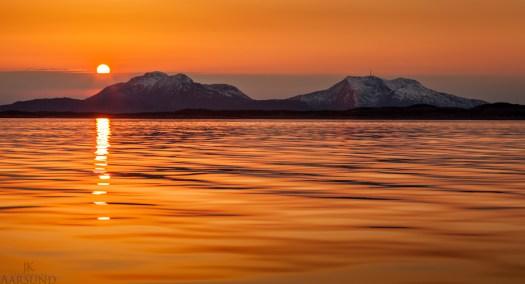 Sunset over Vega and Ylvingen 20140329 Jan Kenneth Aarsund