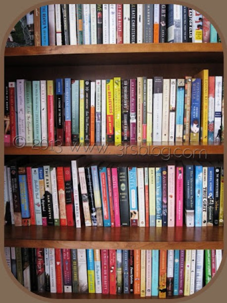 fiction shelves