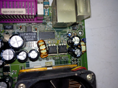After replacing the defective capacitor