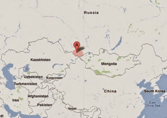 The Altai region is at the intersection of what is now Russia, Mongolia, China and Kazakhstan.