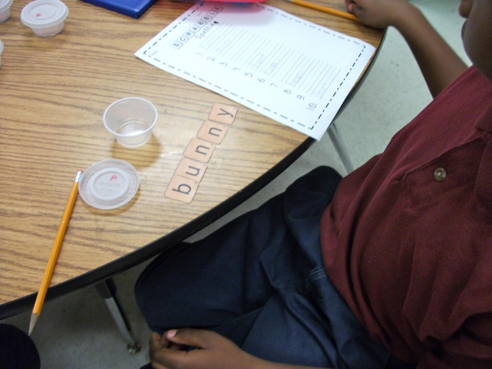 First Grade Fresh Scrabble Spelling