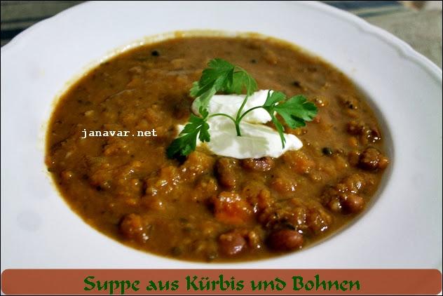 Kochbuchmittwoch: Suppe aus Kürbis und Bohnen
