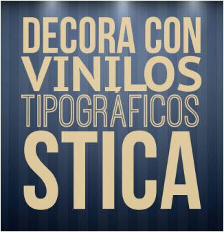 Vinilos tipográficos.