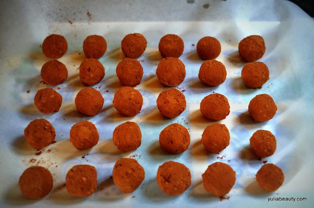 шоколадно-апельсиновые домашние трюфели