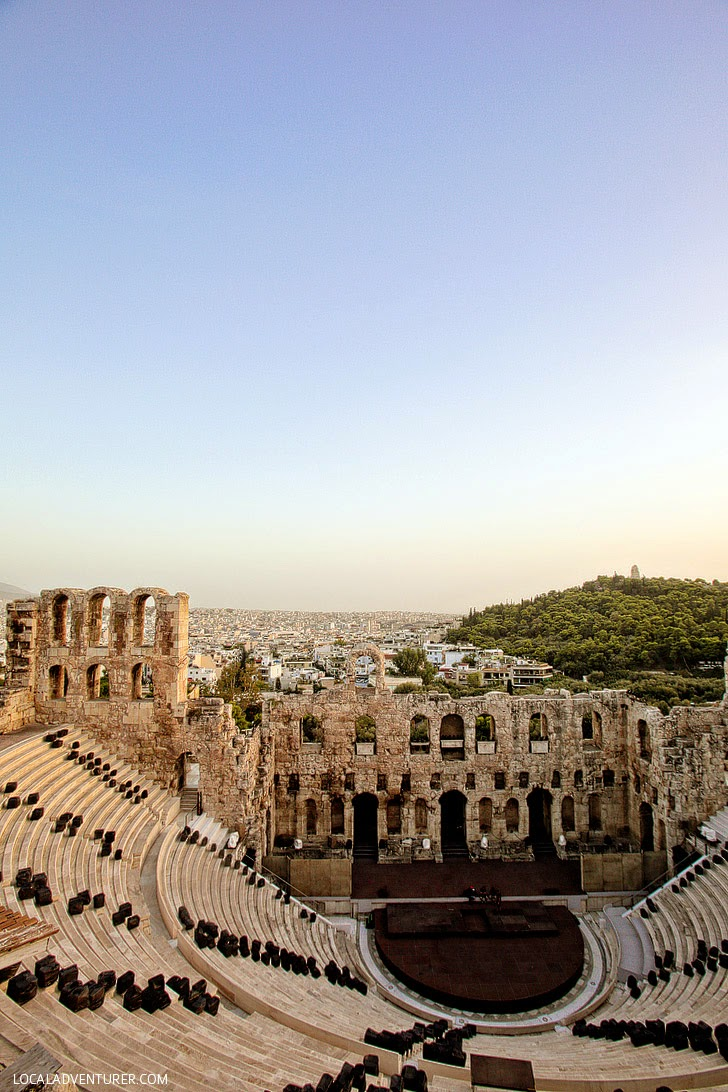 Odeon of Herodes Atticus in the Acropolis of Athens.