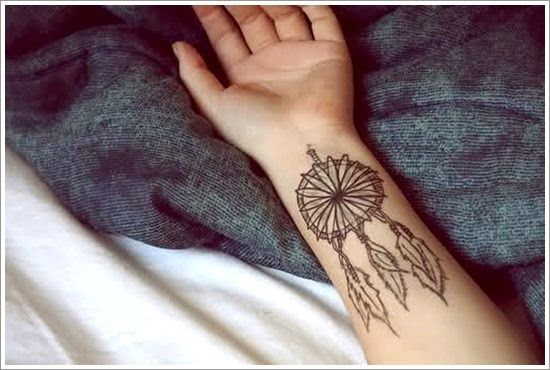 wrist Dreamcatcher Tattoos