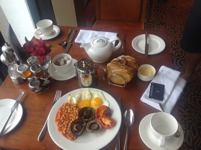 The breakfast spread at the Macdonald Manchester Hotel