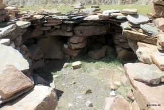 An empty Gaddi stone hut