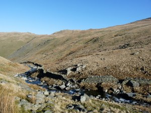 Hayeswater Gill in early sunshine