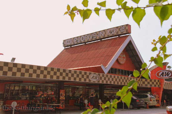 A&W PJ, the first drive-in fast food outlet in Malaysia.